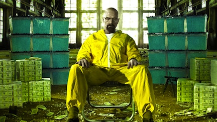 Walter White of Breaking Bad seated