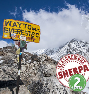 Way to Mt. Everest sign, sherpa Level 2