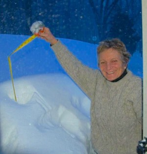 measuring deep snow