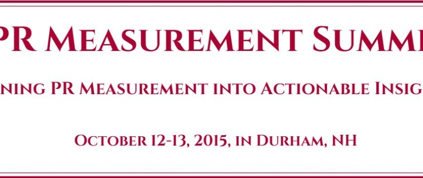 REMINDER: Registration Open for IPR's Measurement Summit
